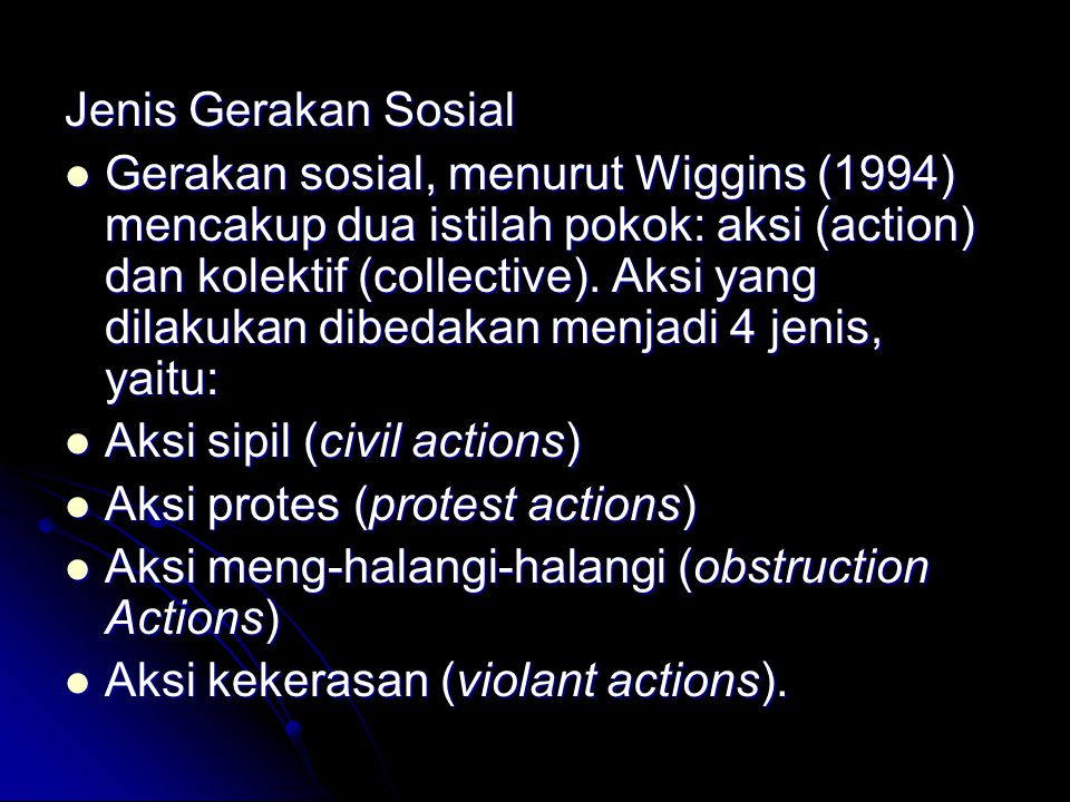 Jenis Gerakan Sosial