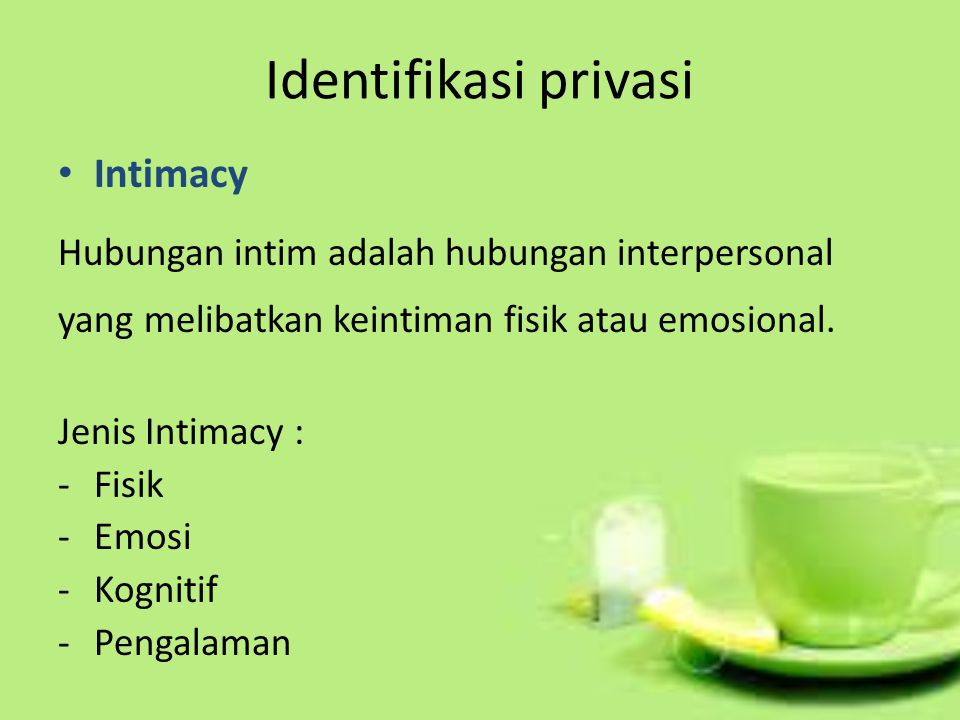 Identifikasi privasi Intimacy