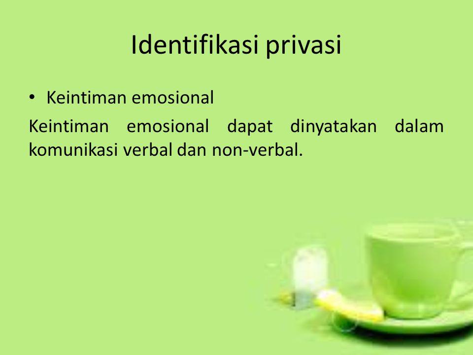 Identifikasi privasi Keintiman emosional