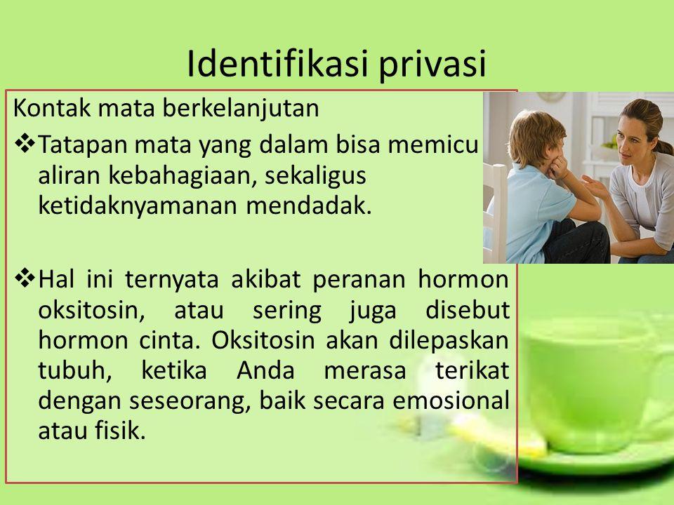 Identifikasi privasi Kontak mata berkelanjutan