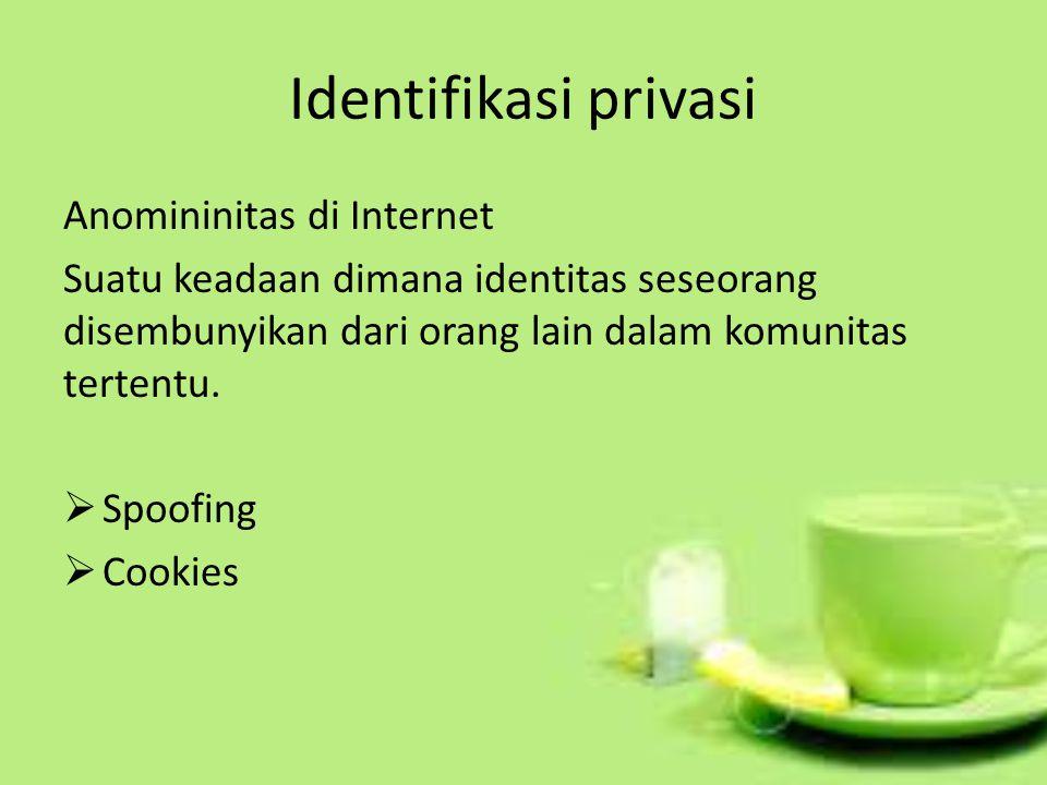 Identifikasi privasi Anomininitas di Internet