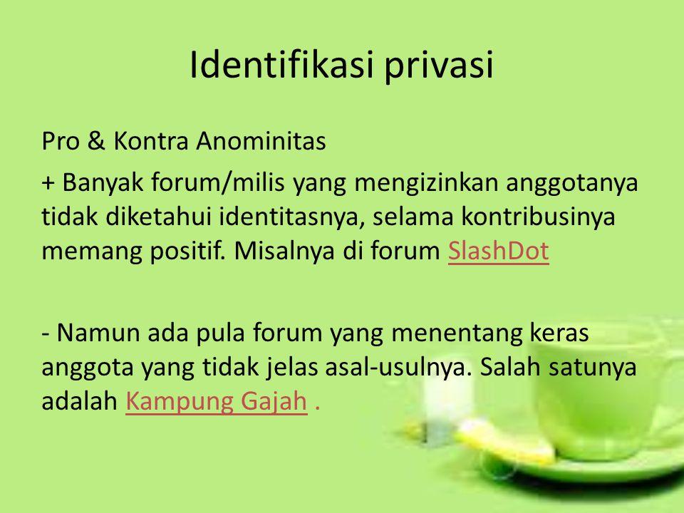 Identifikasi privasi