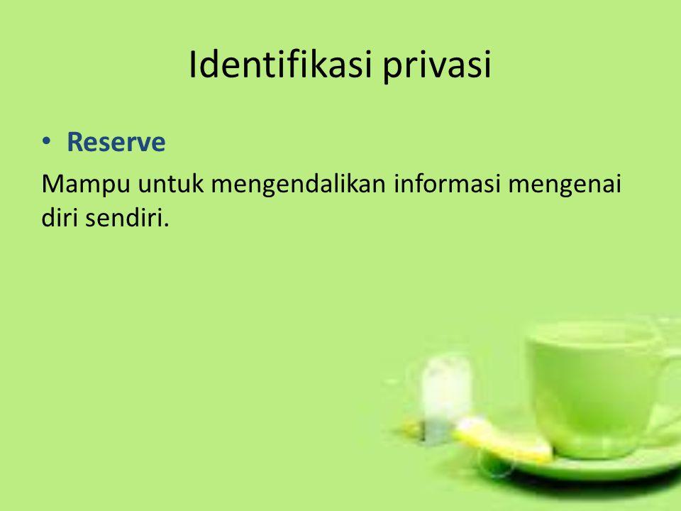 Identifikasi privasi Reserve