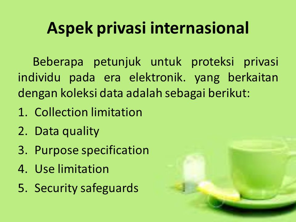 Aspek privasi internasional