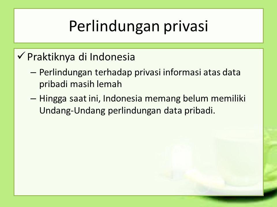 Perlindungan privasi Praktiknya di Indonesia