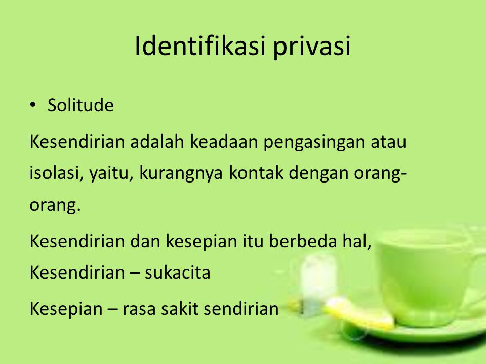 Identifikasi privasi Solitude