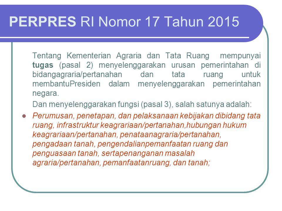 PERPRES RI Nomor 17 Tahun 2015