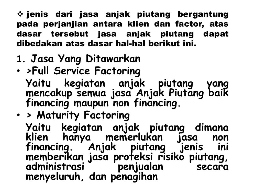 >Full Service Factoring