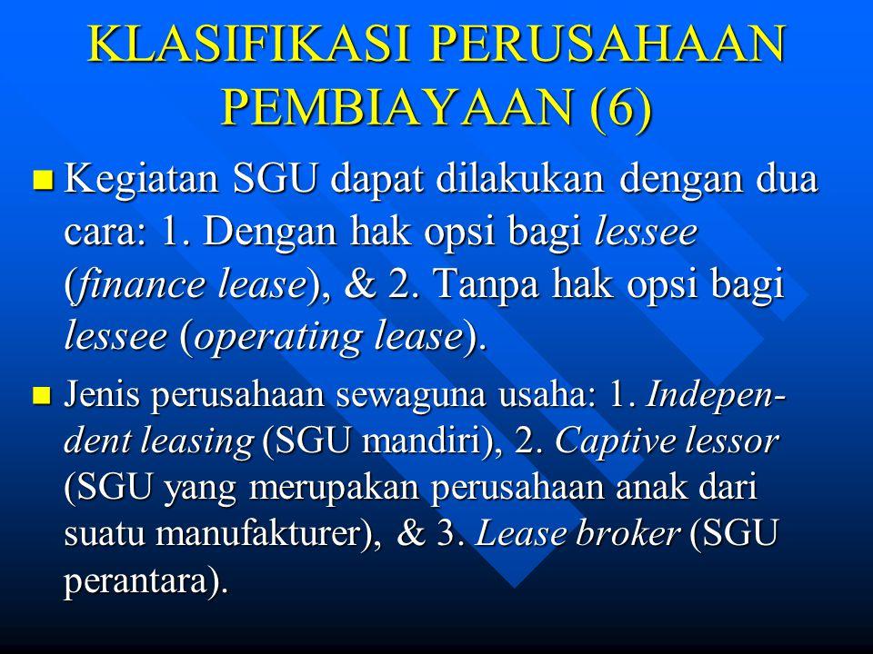 KLASIFIKASI PERUSAHAAN PEMBIAYAAN (6)