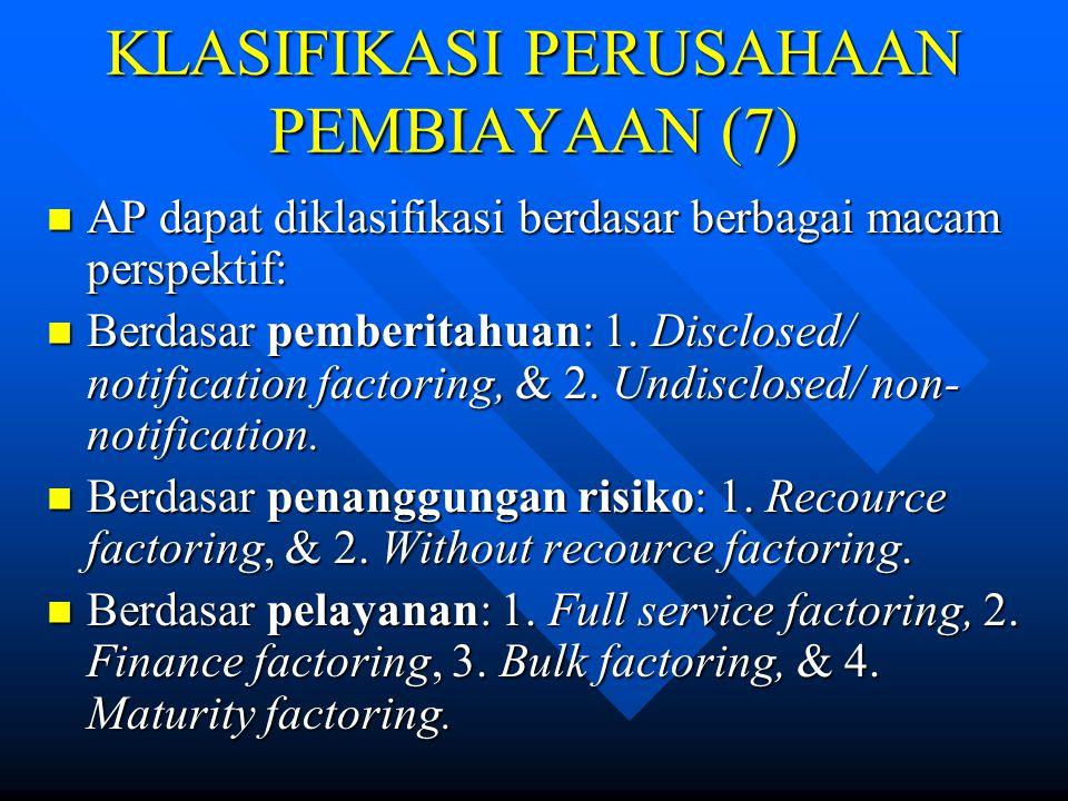 KLASIFIKASI PERUSAHAAN PEMBIAYAAN (7)