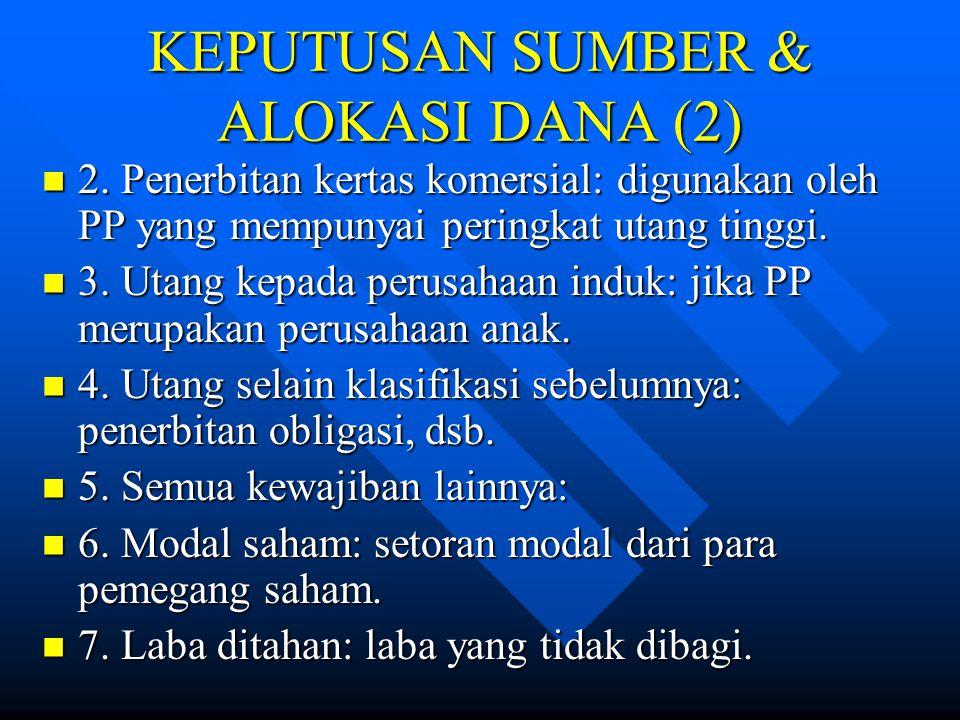 KEPUTUSAN SUMBER & ALOKASI DANA (2)