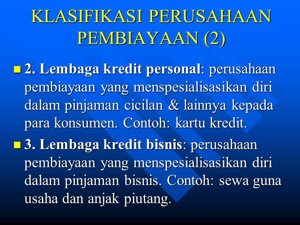 KLASIFIKASI PERUSAHAAN PEMBIAYAAN (2)