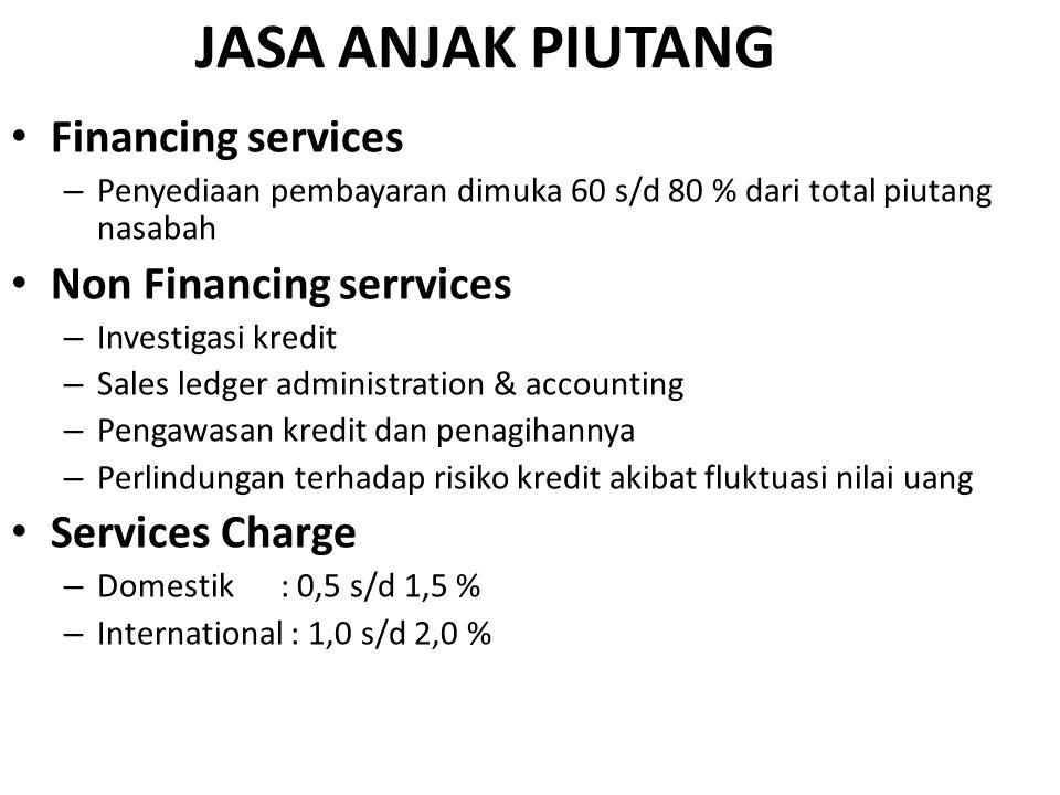 JASA ANJAK PIUTANG Financing services Non Financing serrvices