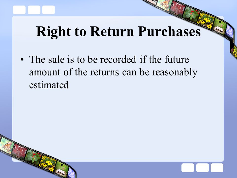 Right to Return Purchases