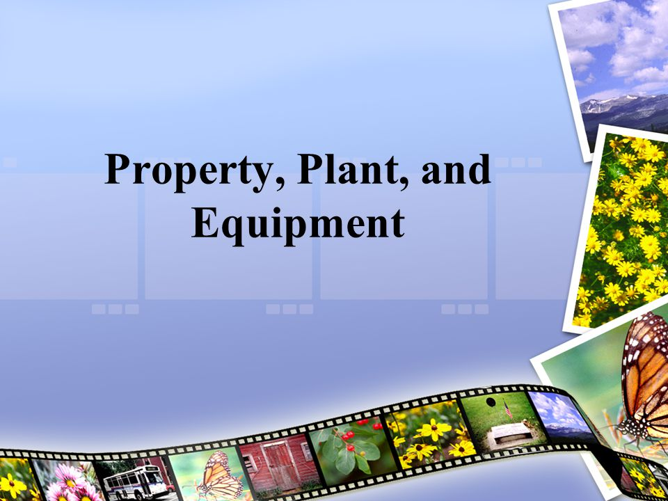 Property, Plant, and Equipment