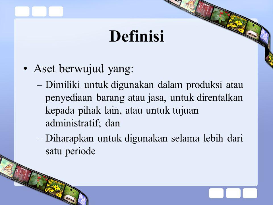 Definisi Aset berwujud yang: