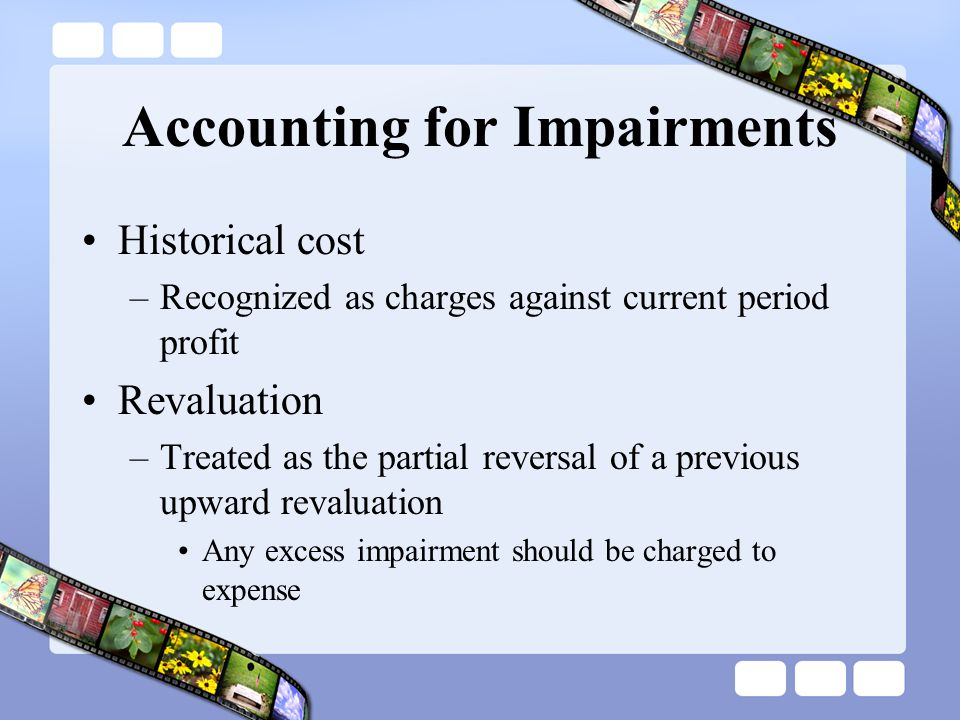 Accounting for Impairments
