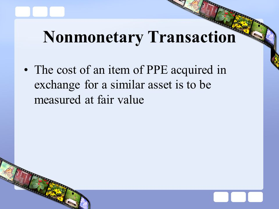 Nonmonetary Transaction