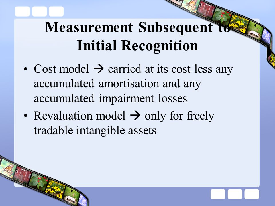 Measurement Subsequent to Initial Recognition