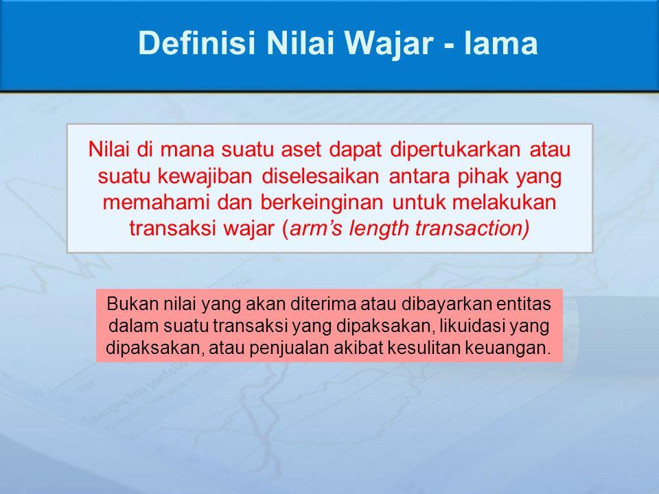 Definisi Nilai Wajar - lama