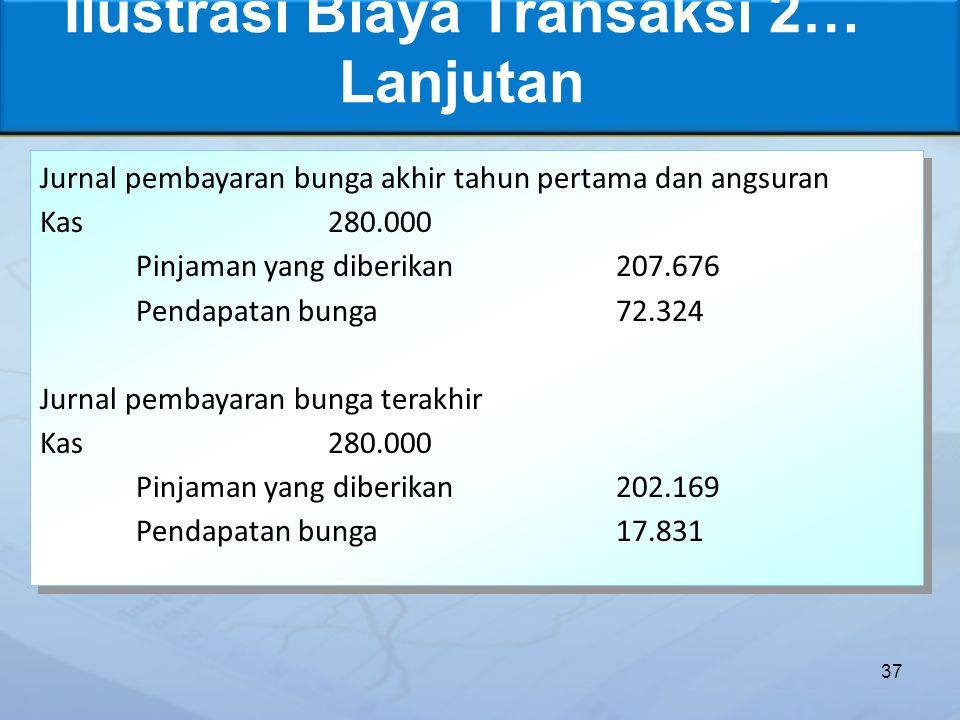 Ilustrasi Biaya Transaksi 2… Lanjutan
