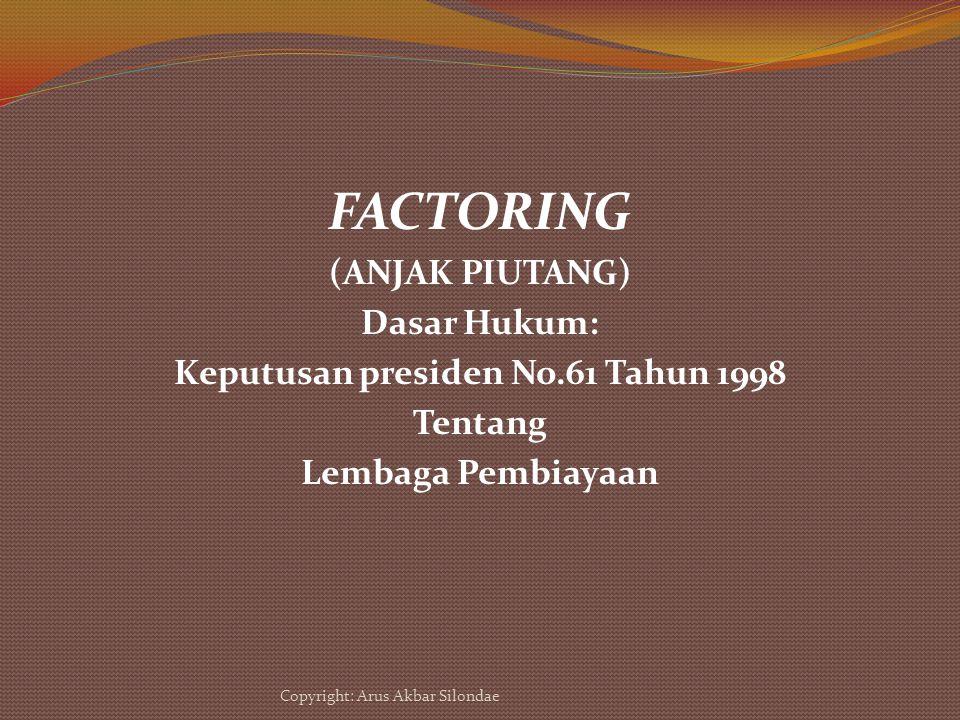 Keputusan presiden No.61 Tahun 1998