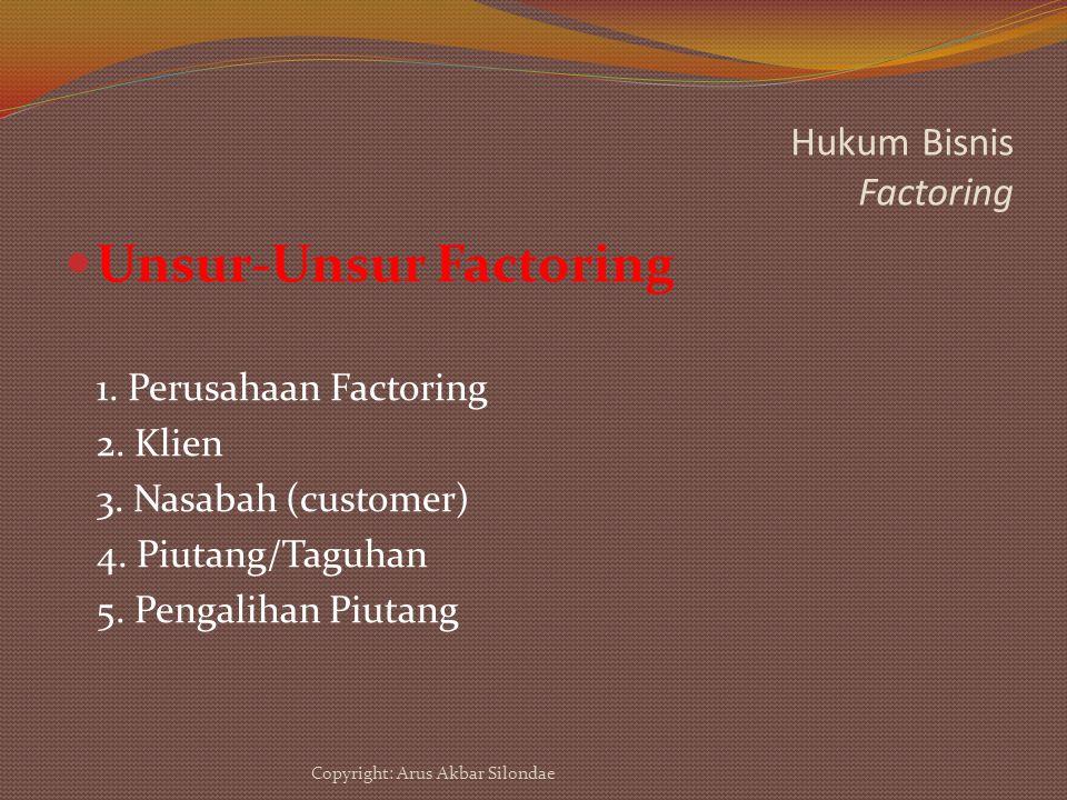 Hukum Bisnis Factoring
