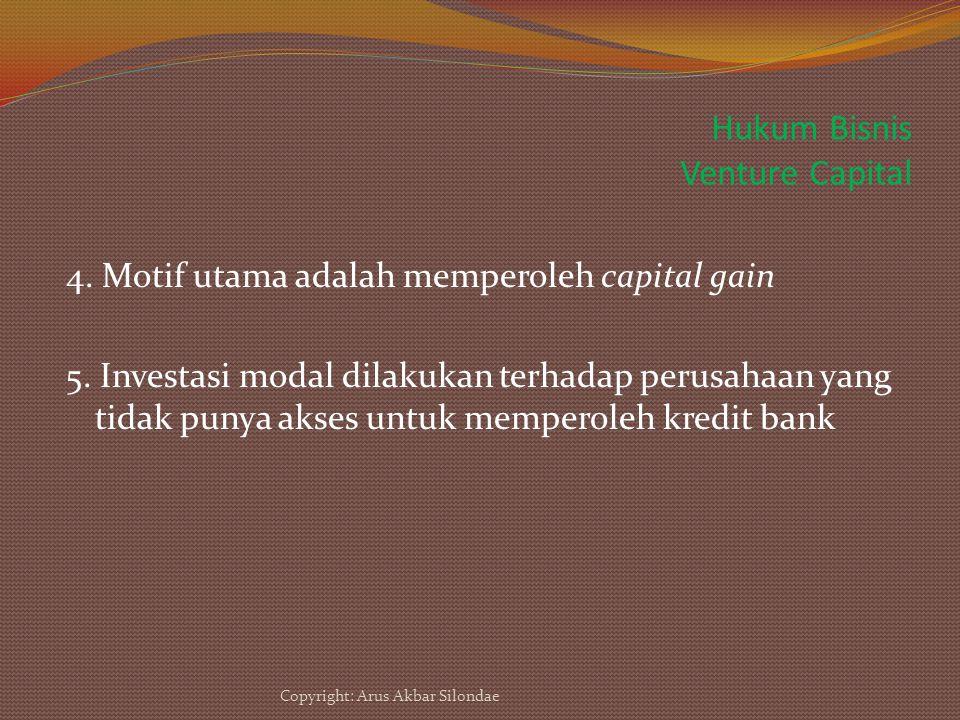 Hukum Bisnis Venture Capital