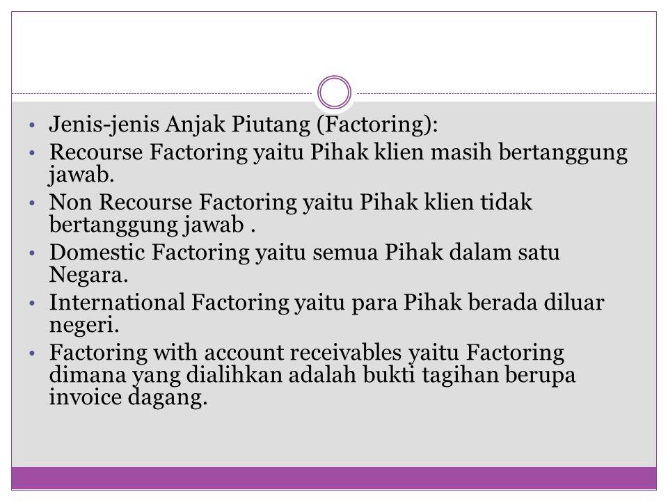 Jenis-jenis Anjak Piutang (Factoring):