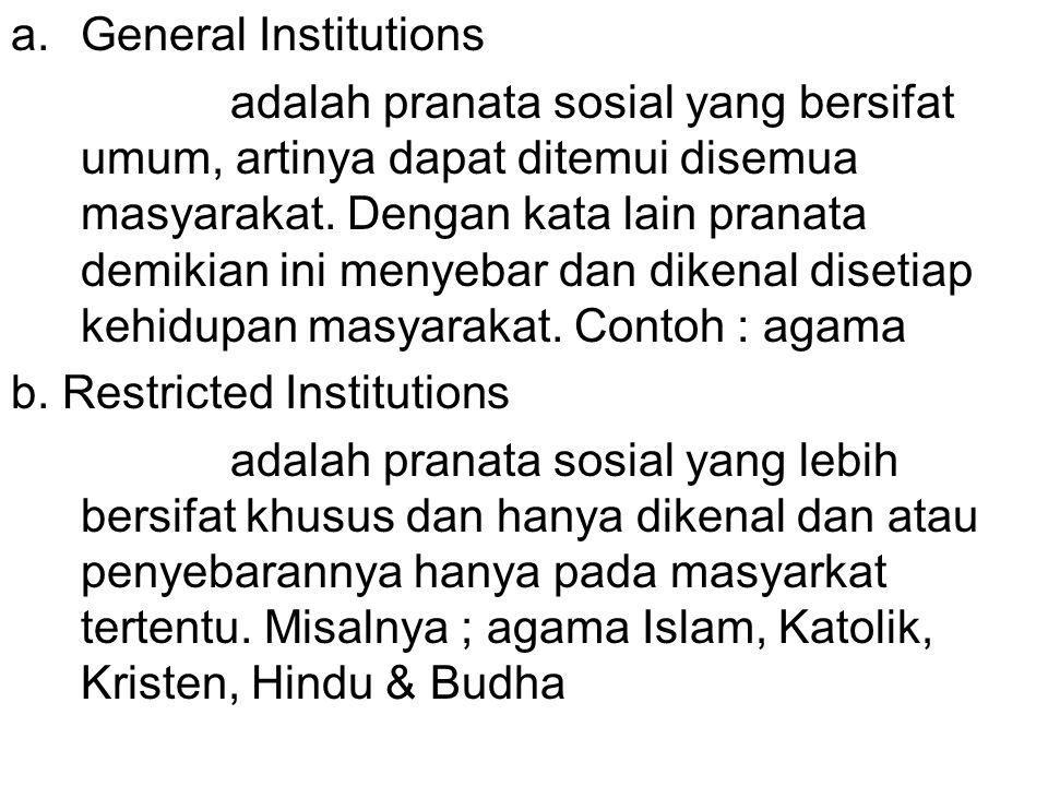 General Institutions