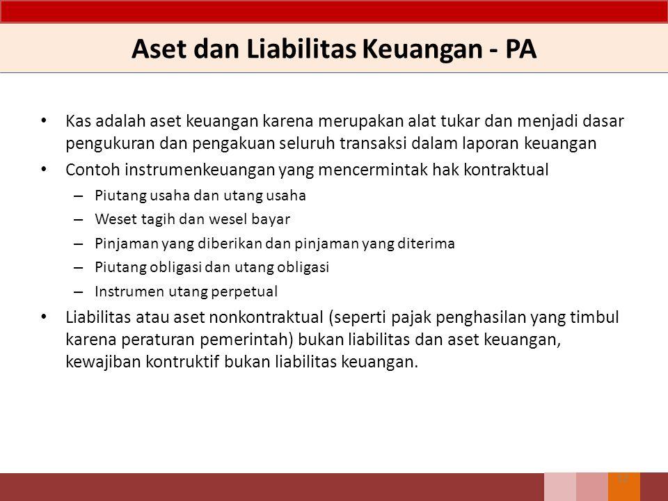 Aset dan Liabilitas Keuangan - PA