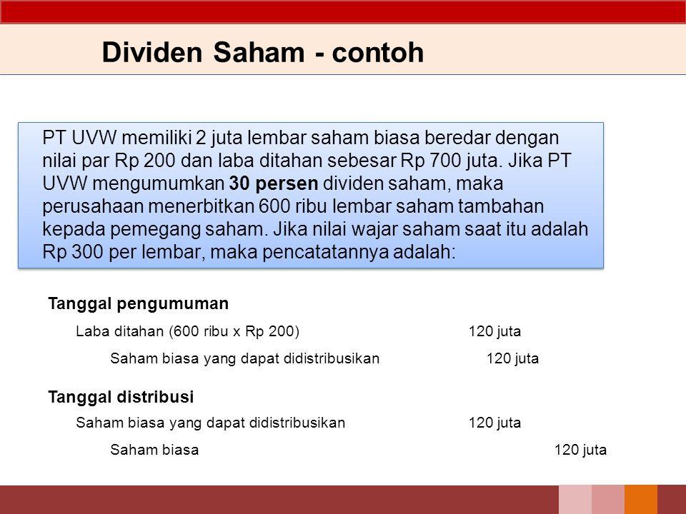 Dividen Saham - contoh