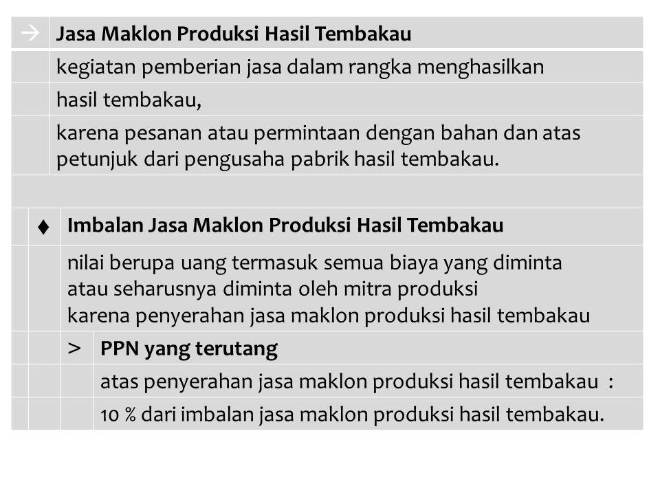 ♦  Jasa Maklon Produksi Hasil Tembakau