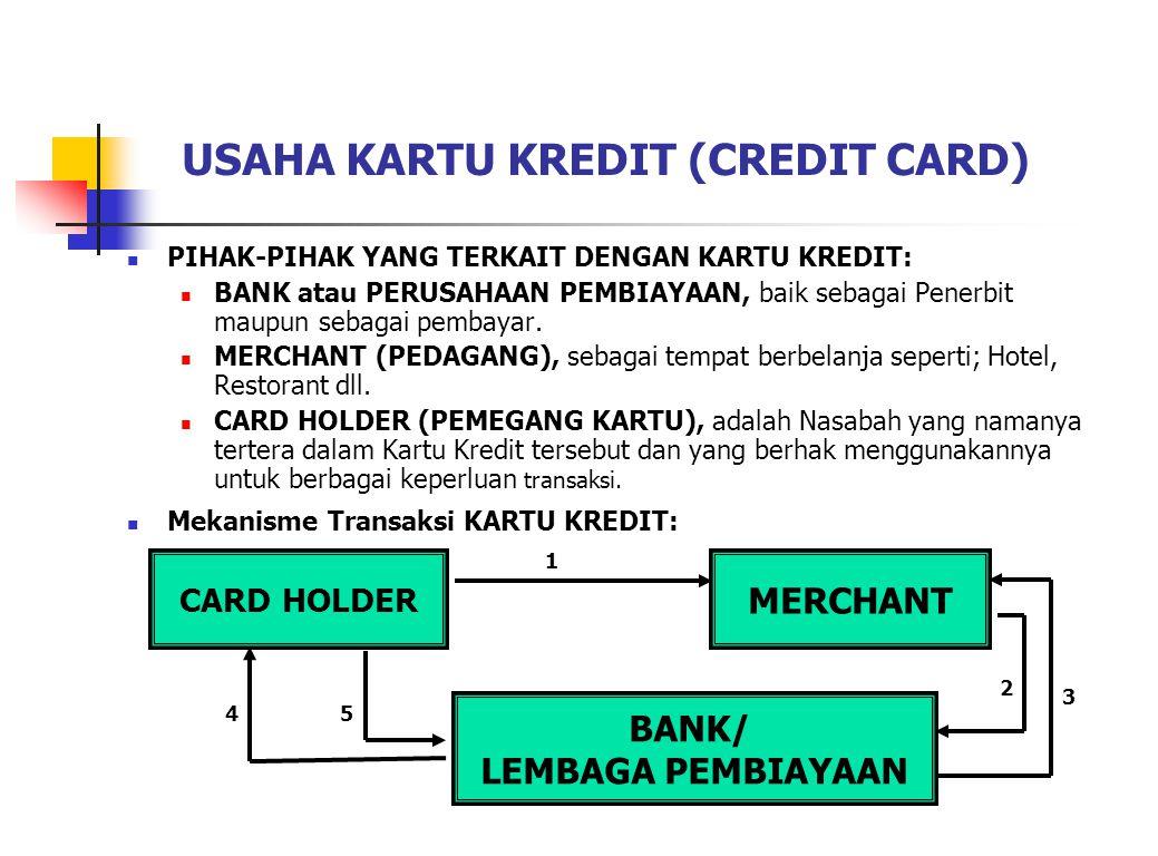 USAHA KARTU KREDIT (CREDIT CARD)