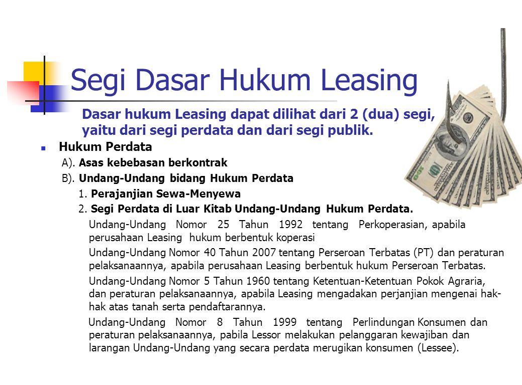 Segi Dasar Hukum Leasing