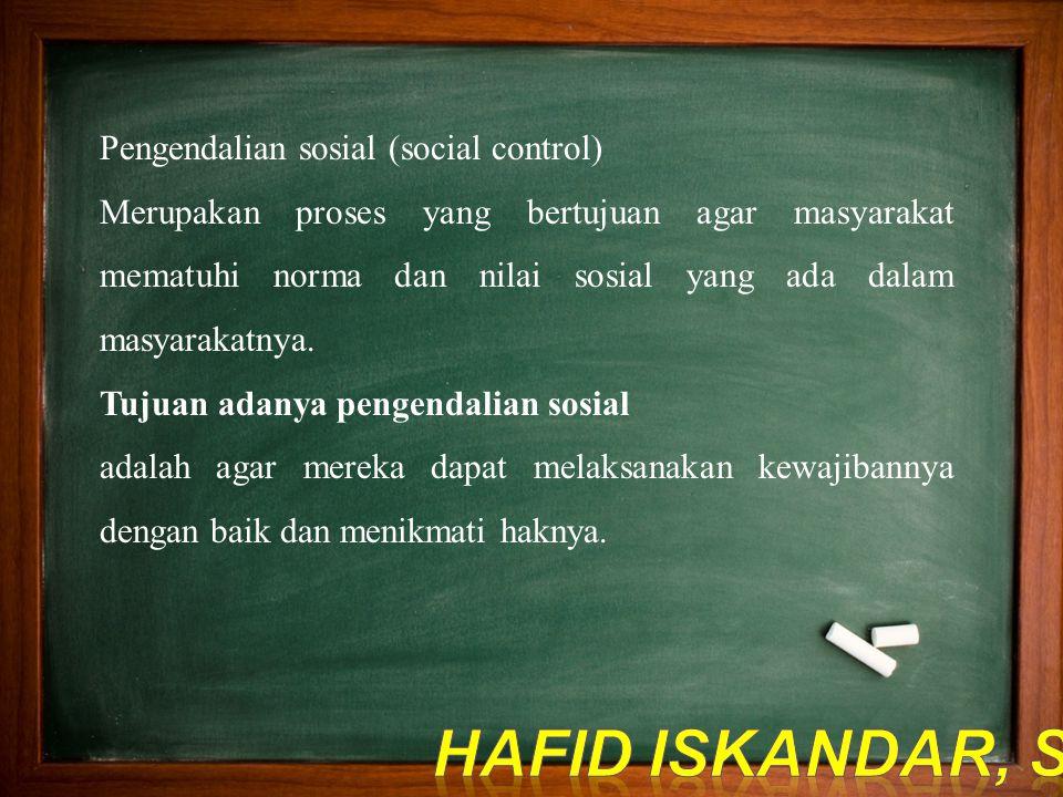 Pengendalian sosial (social control)