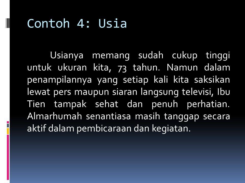 Contoh 4: Usia