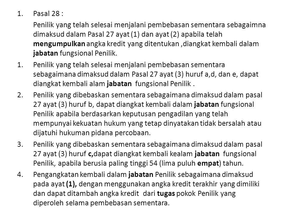 Pasal 28 :