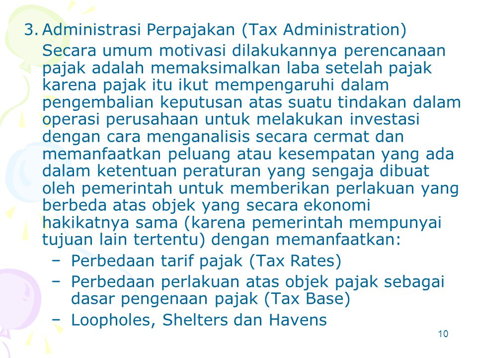 Administrasi Perpajakan (Tax Administration)