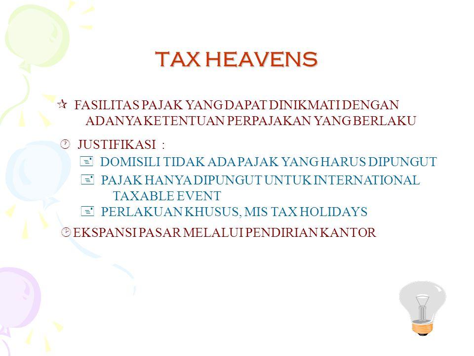 TAX HEAVENS FASILITAS PAJAK YANG DAPAT DINIKMATI DENGAN