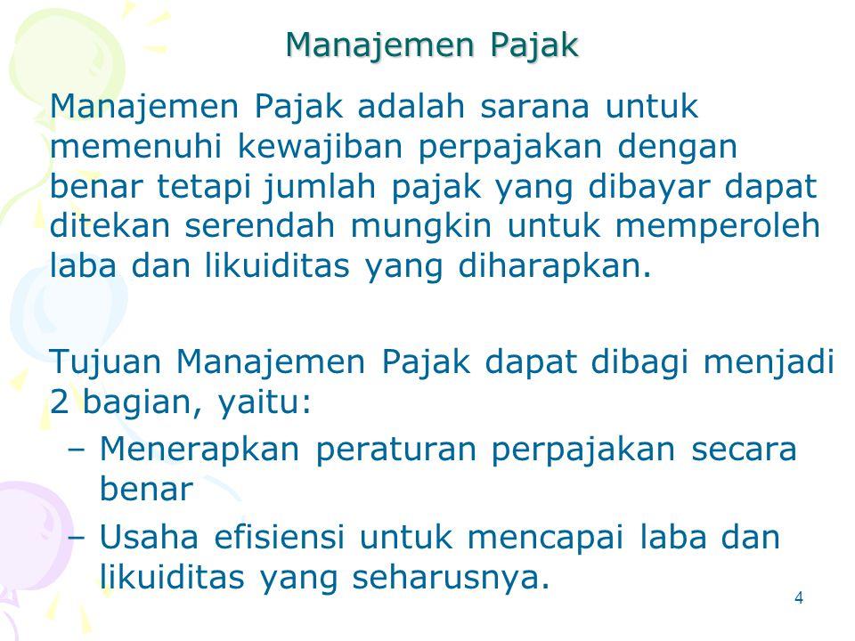 Manajemen Pajak