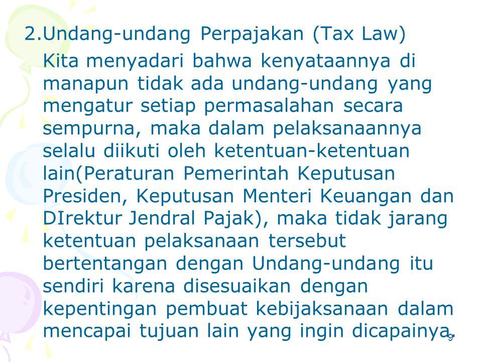 Undang-undang Perpajakan (Tax Law)