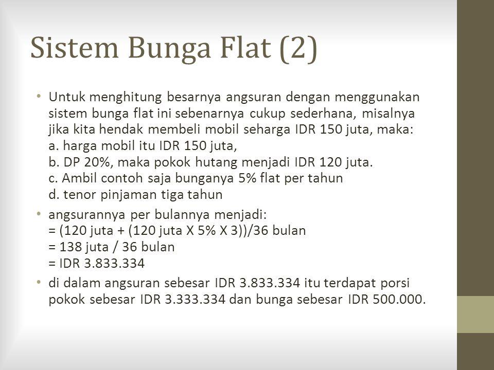 Sistem Bunga Flat (2)