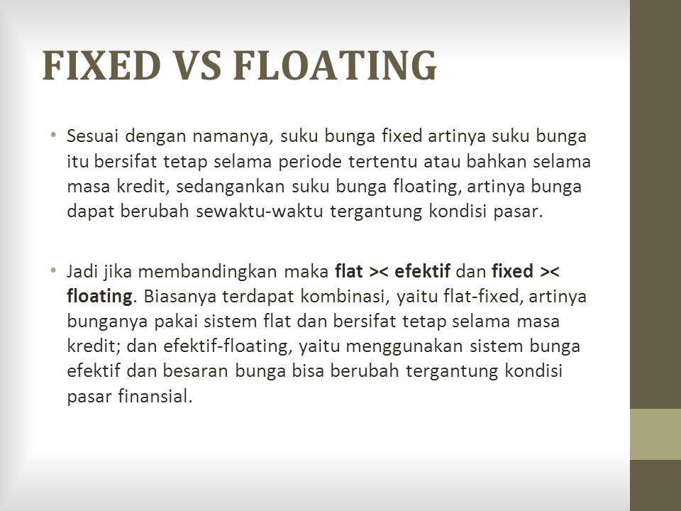 FIXED VS FLOATING