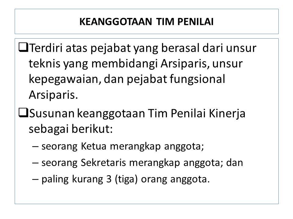 KEANGGOTAAN TIM PENILAI