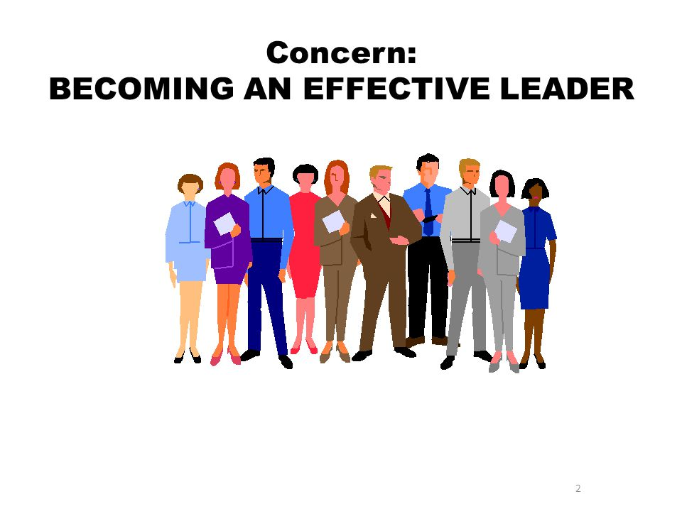 Concern: BECOMING AN EFFECTIVE LEADER