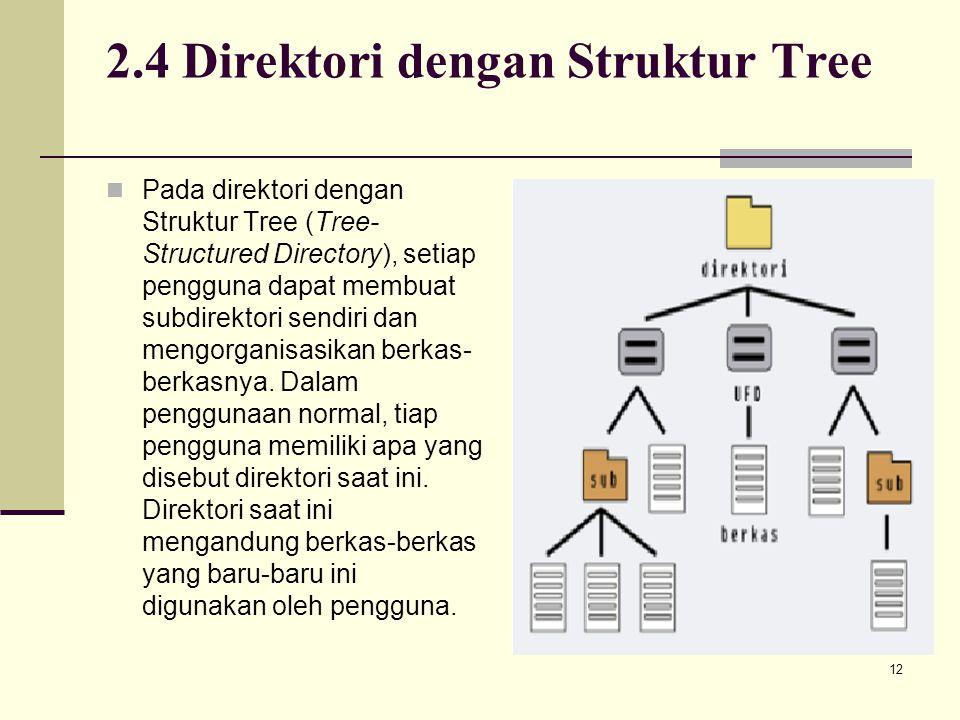 2.4 Direktori dengan Struktur Tree