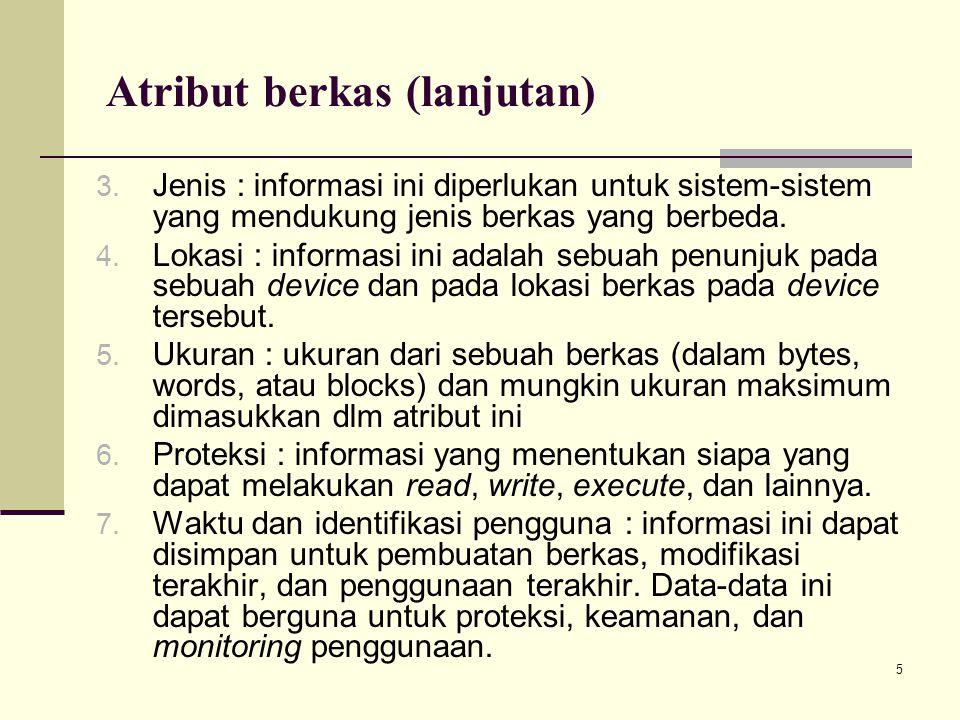 Atribut berkas (lanjutan)