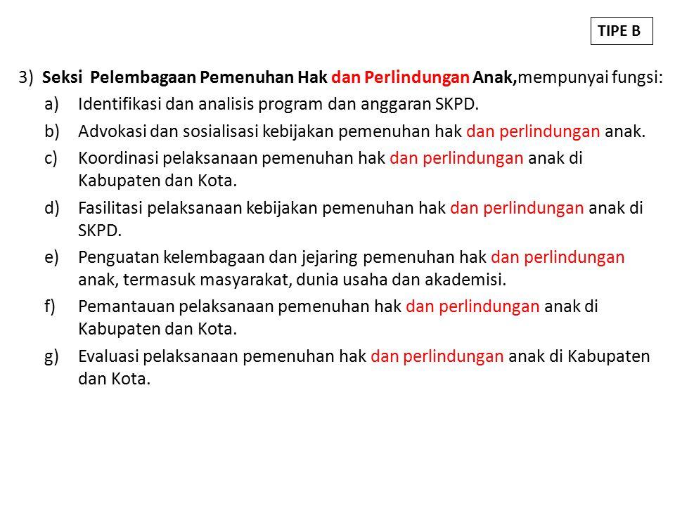 Identifikasi dan analisis program dan anggaran SKPD.