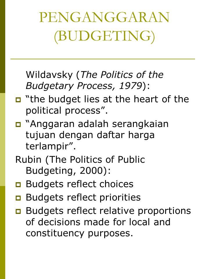 PENGANGGARAN (BUDGETING)